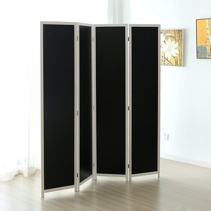 Chalkboard privacy screen room divider
