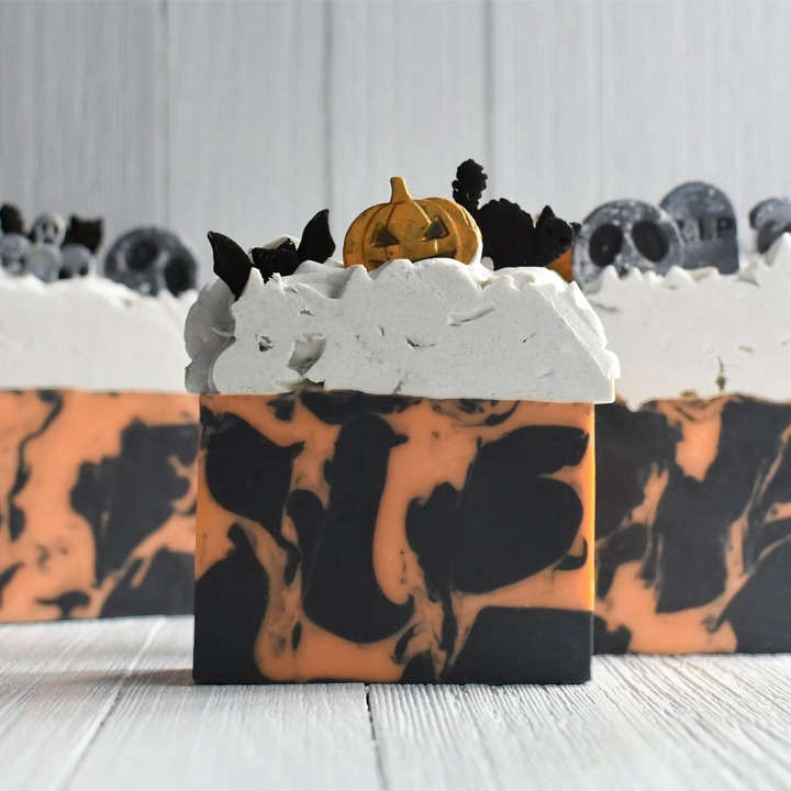 Halloween themed handcrafted soap