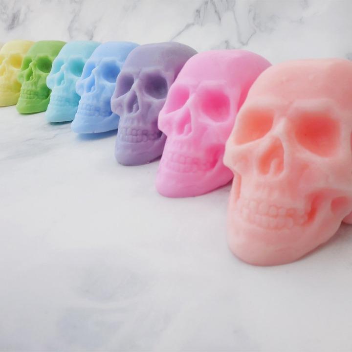 Pastel skull soaps