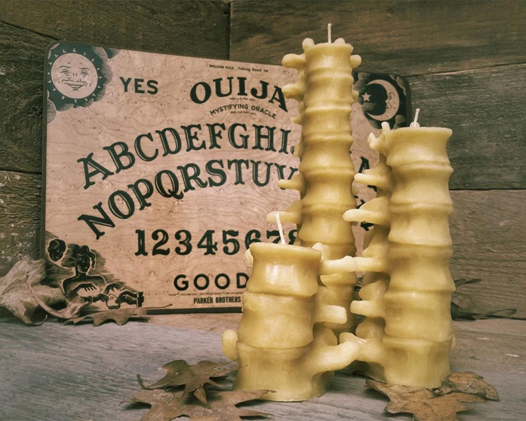 Spine shaped Halloween candles