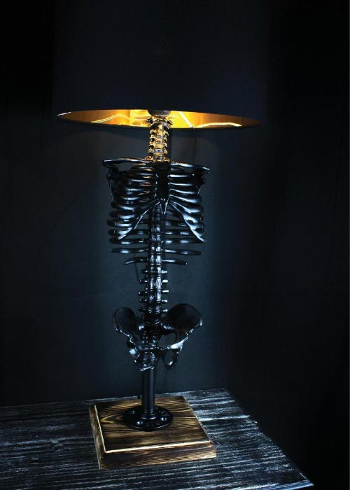 halloween decor skeleton lamp