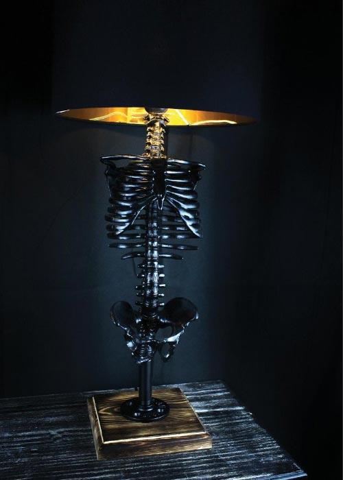 halloween decor skeleton lamp