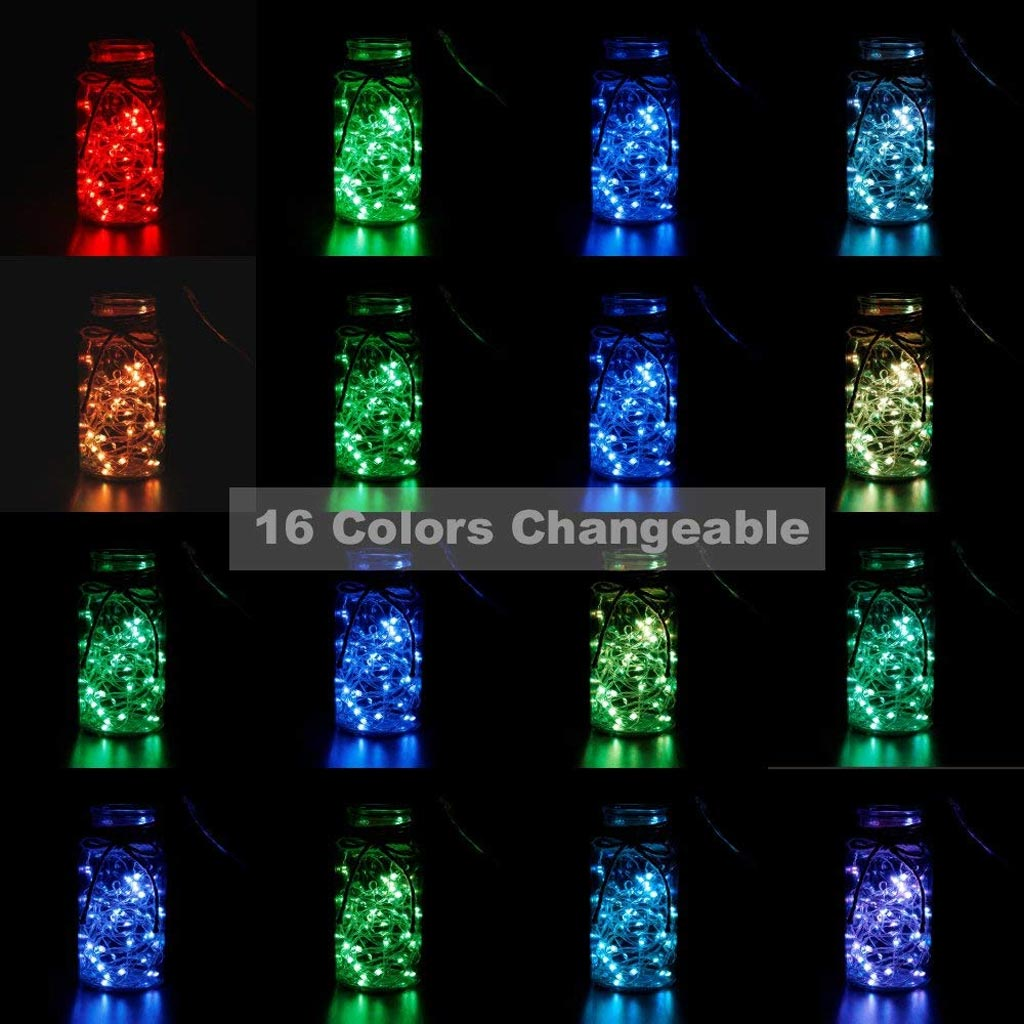 Color changing string lights with 16 color options