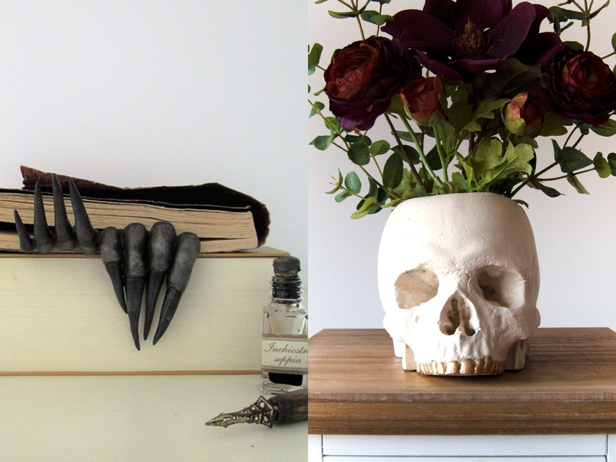 19 Halloween Decorations for Small Spaces You'll Use All Year But what if I told you that there are Halloween decorations for small spaces that not only look amazing but can also stay up all year long? Yes, stuff that you don't have to hide in a box. This list contains items that can be used as a Halloween piece of decor but can also serve other purposes.