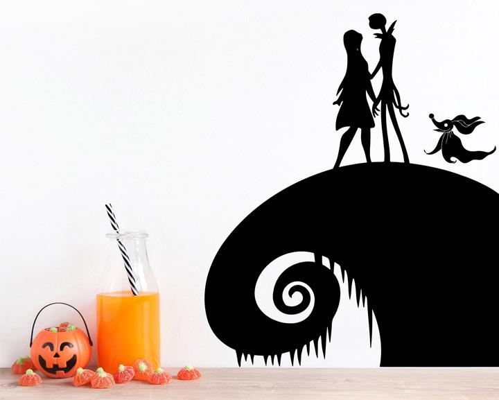 Nightmare before Christmas Jack and Sally Halloween decal