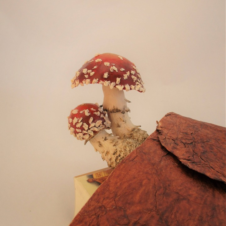 Red mushroom bookmark