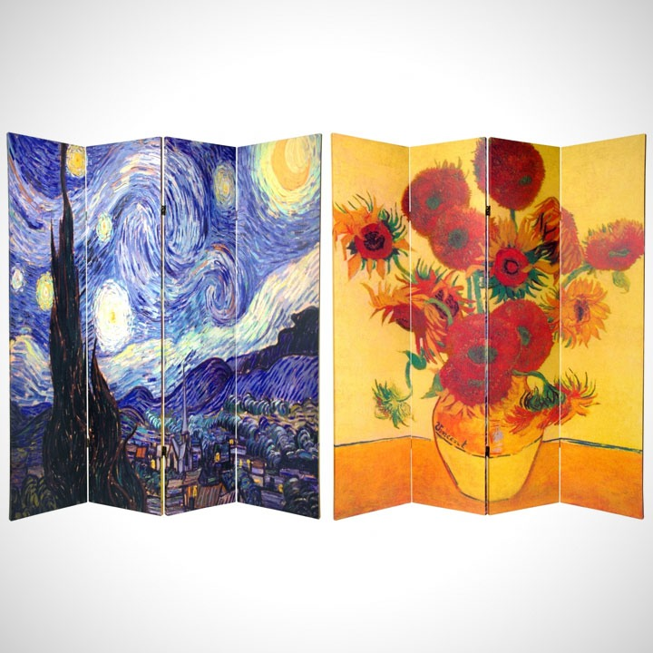 Van Gogh reversible privacy room dividers