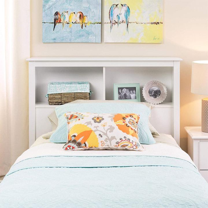 Dorm headboard storage