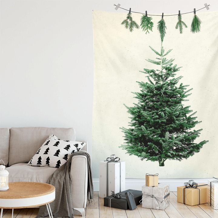 Christmas tree alternative wall tapestry