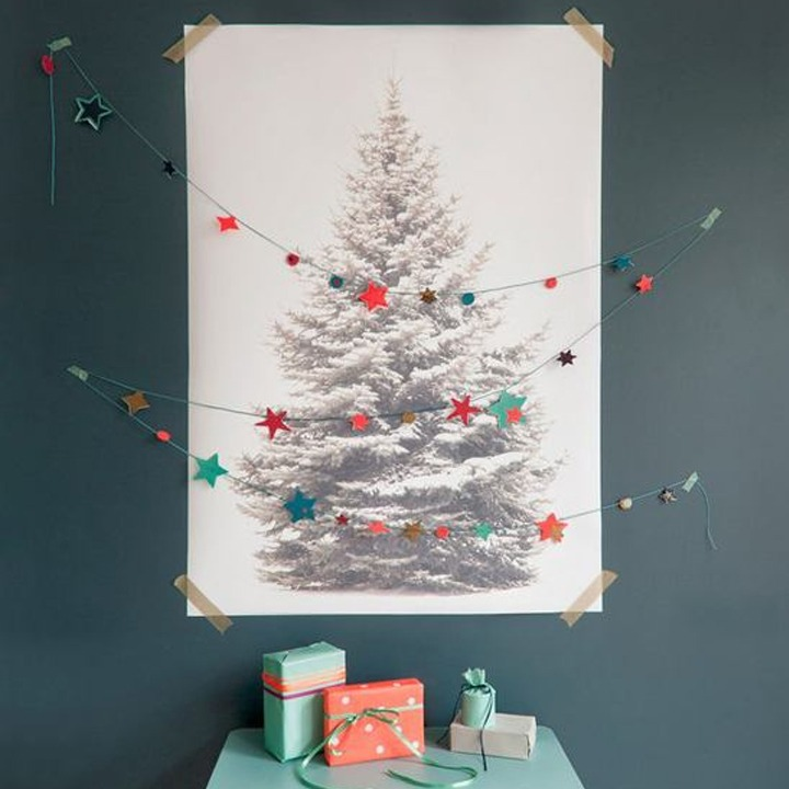 Christmas tree alternative wall poster