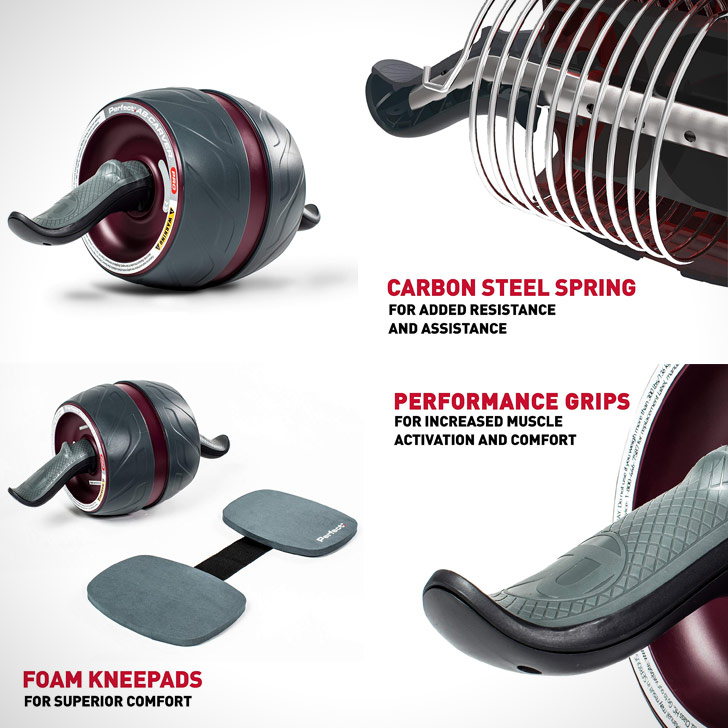 ab roller with kneepads core workout equipment for small spaces