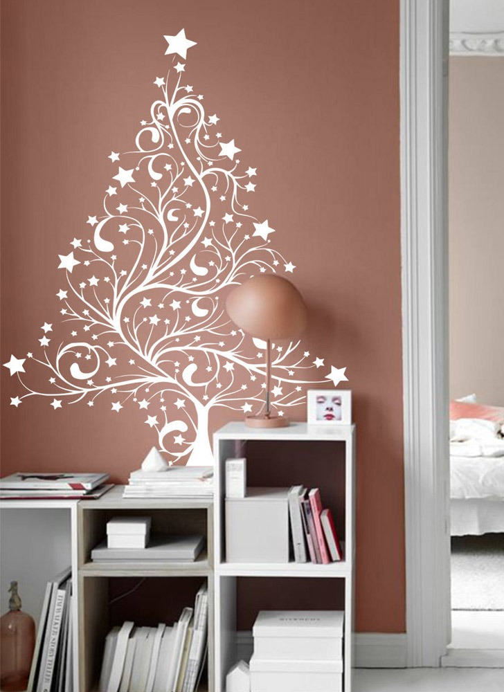 christmas tree alternative wall abstract decal