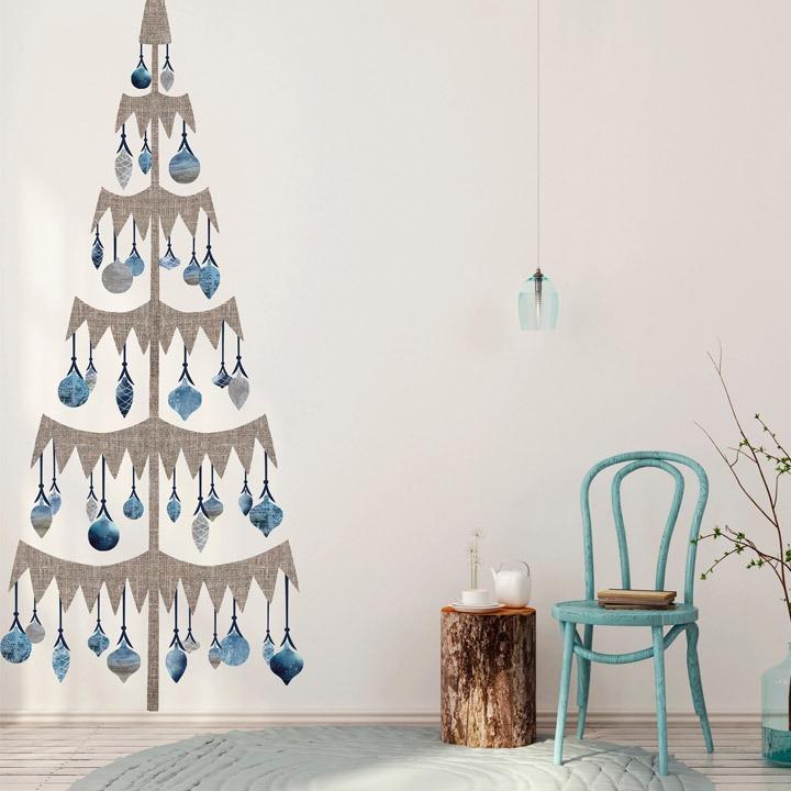 christmas tree alternative wall scandinavian decal