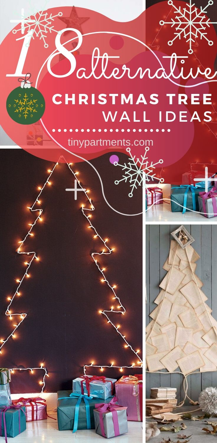 christmas tree wall ideas