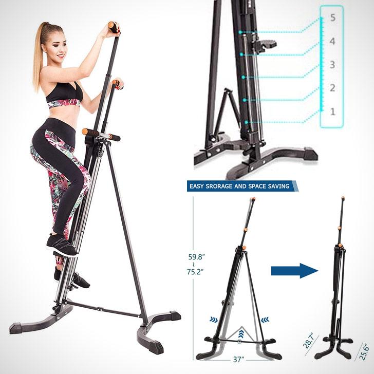 folding vertical climber climbing machine cardio workout