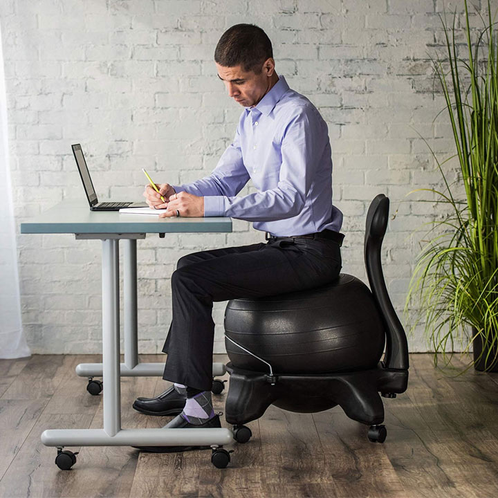 yoga ball chair exercise equipment for small spaces