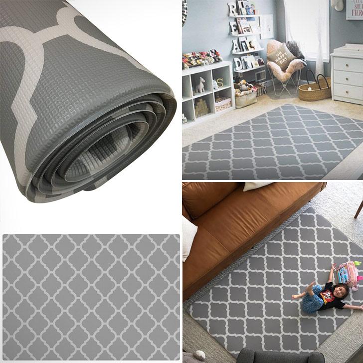 rug-like stylish foam floor yoga and exercise mat