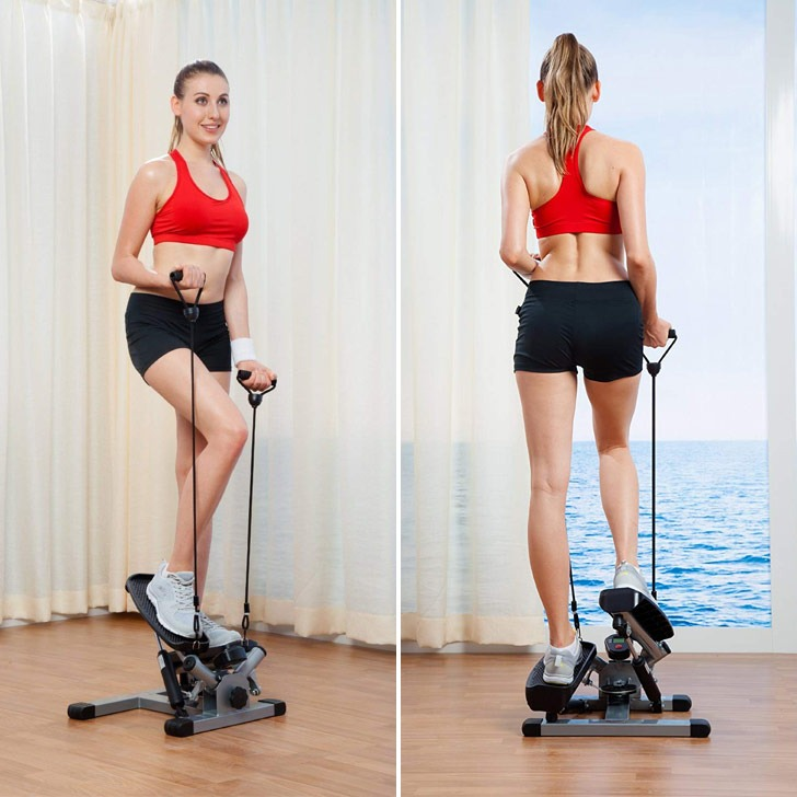 twister stepper cardio exercise machine for small spaces