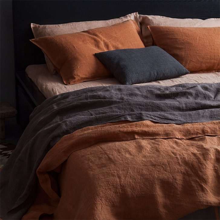 terracotta bedroom linens
