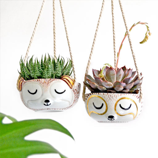 cute sloth hanging planters