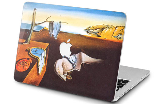 The Persistence of Memory Salvador Dali Melting Clock MacBook Cover