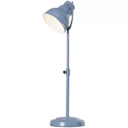 "Ranier 21"" Baby Blue office Desk Lamp"