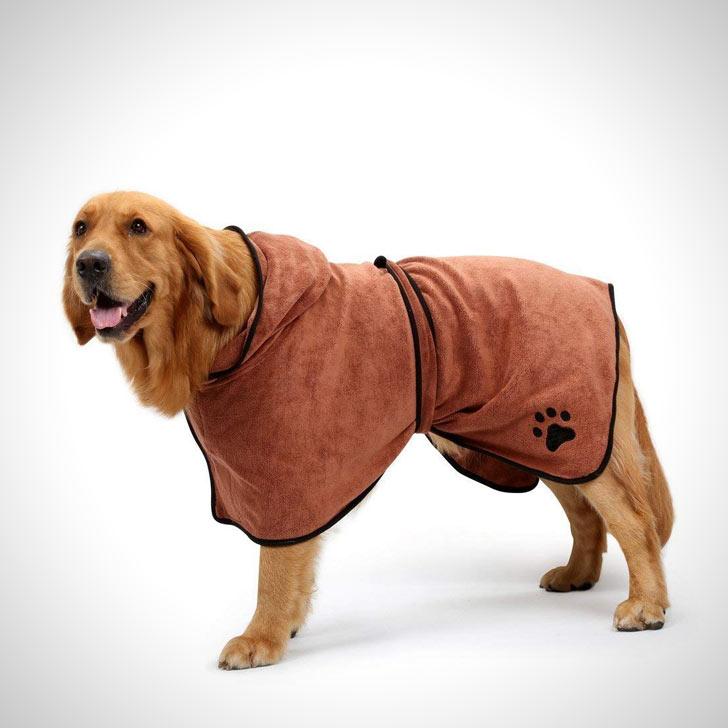 microfiber drying dog bathrobe towel