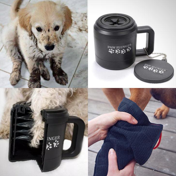 paw plunger dog paw mug cleaner