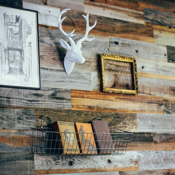 Weekend Wall peel and stick wood paneling