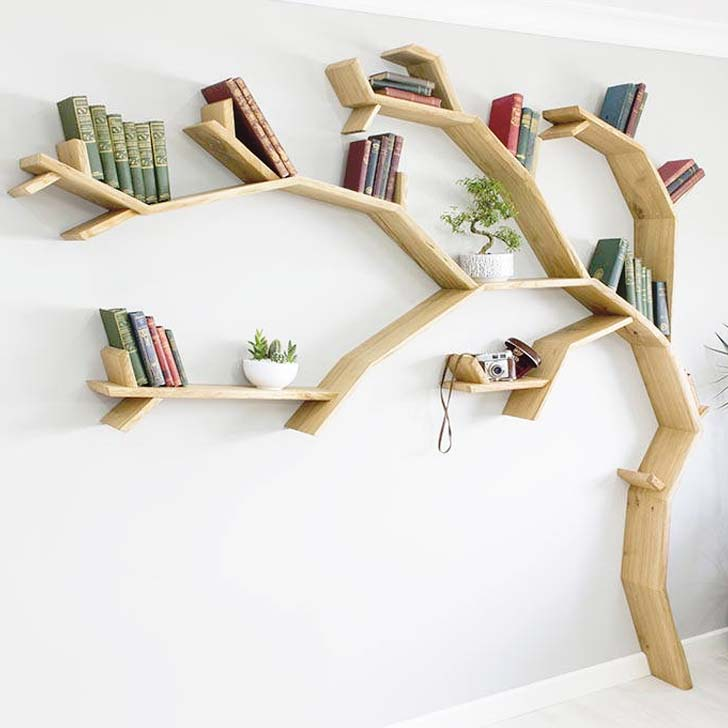 tree bookshelf accent furniture
