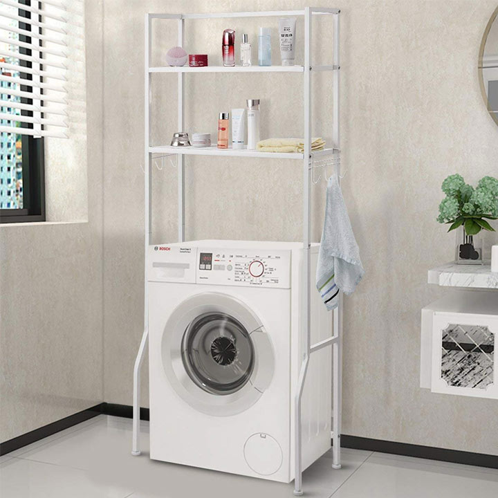over the washing machine shelf storage rack