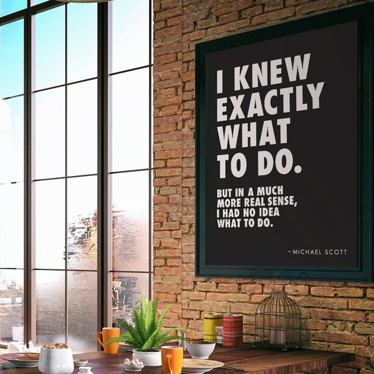 Michael Scott The Office funny quote wall art