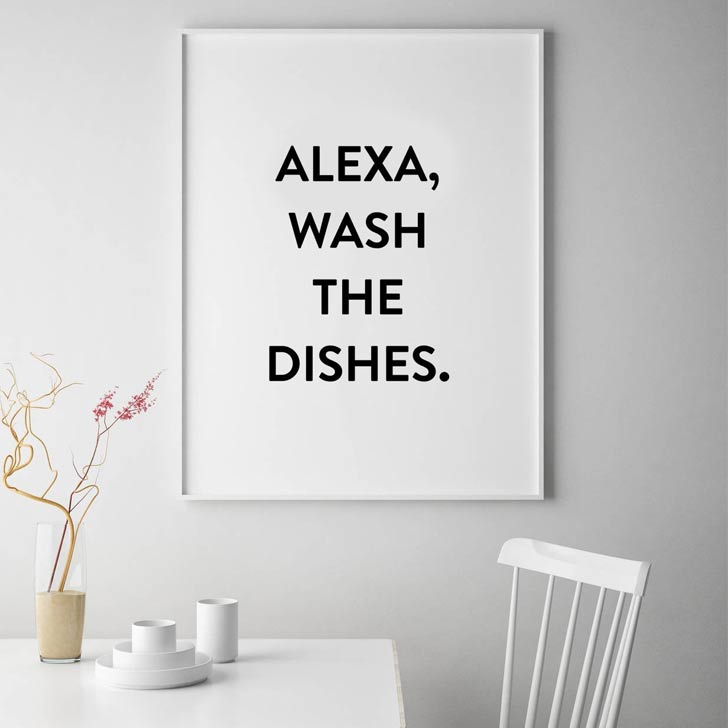 alexa wash the dishes print
