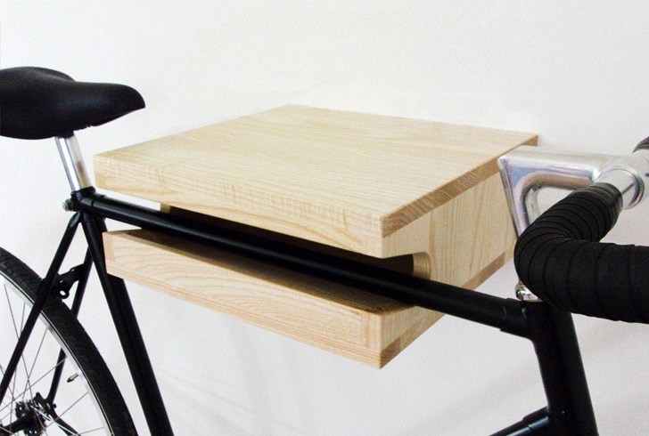 birch bike rack shelf