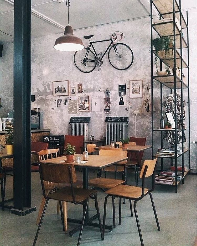 coffee shop bicycle accent