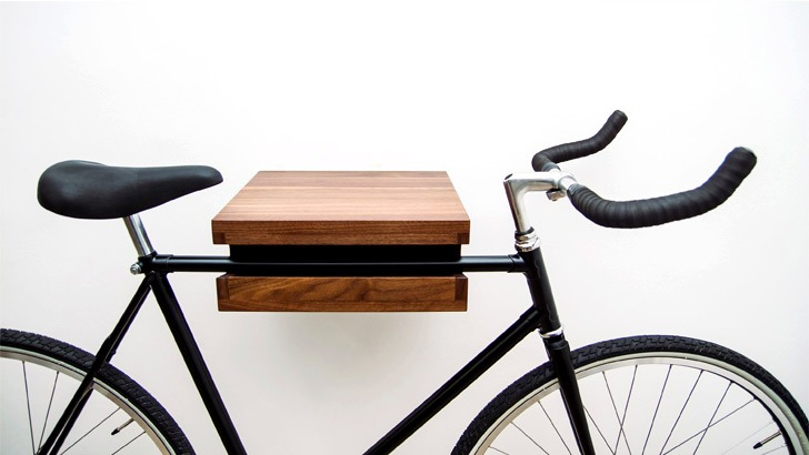 sierra walnut bike shelf