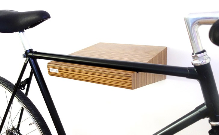 zebrano wood bike shelf