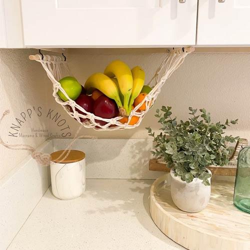 under the cabinet fruit hammock holder