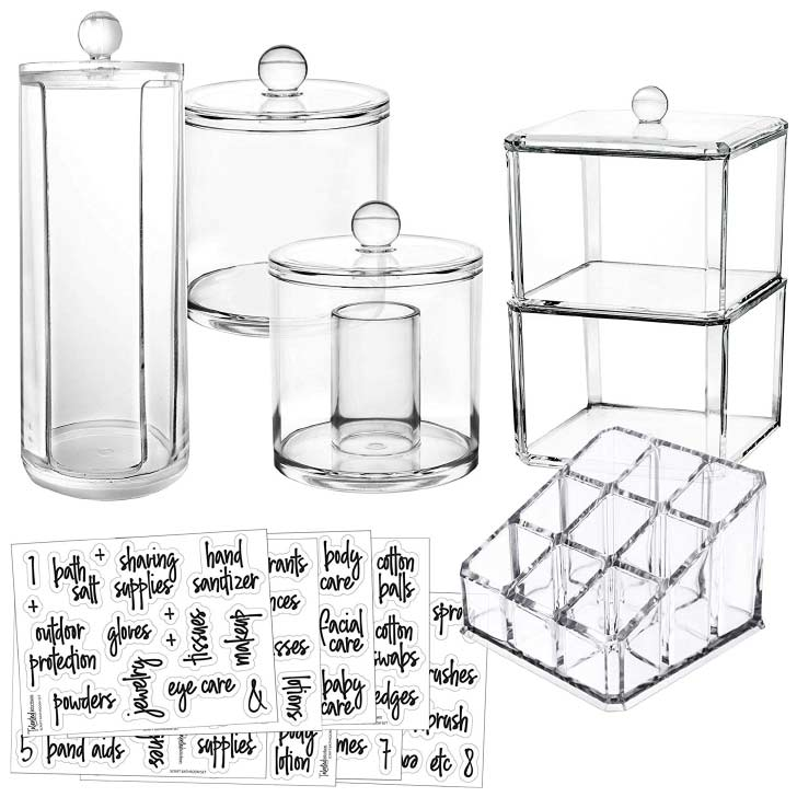 apothecary jars set labels