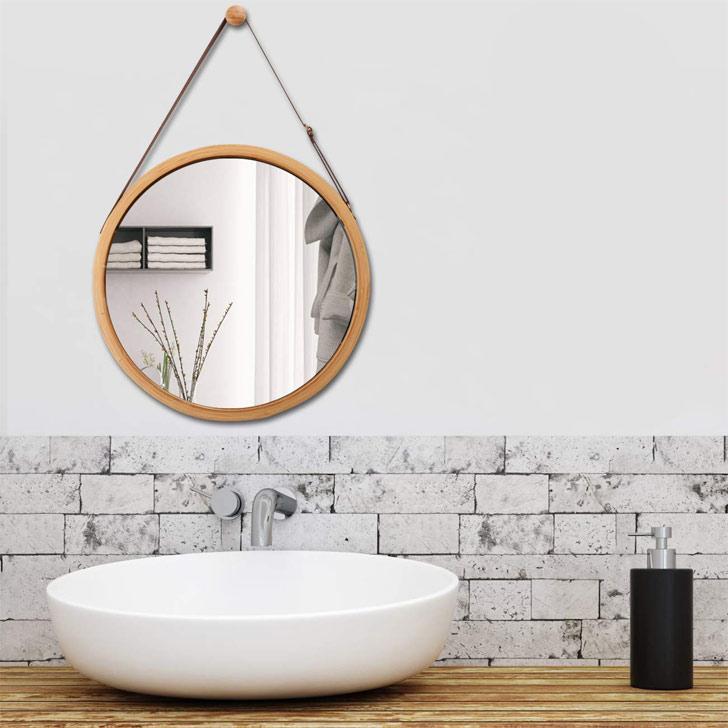 bathroom mirror on a budget