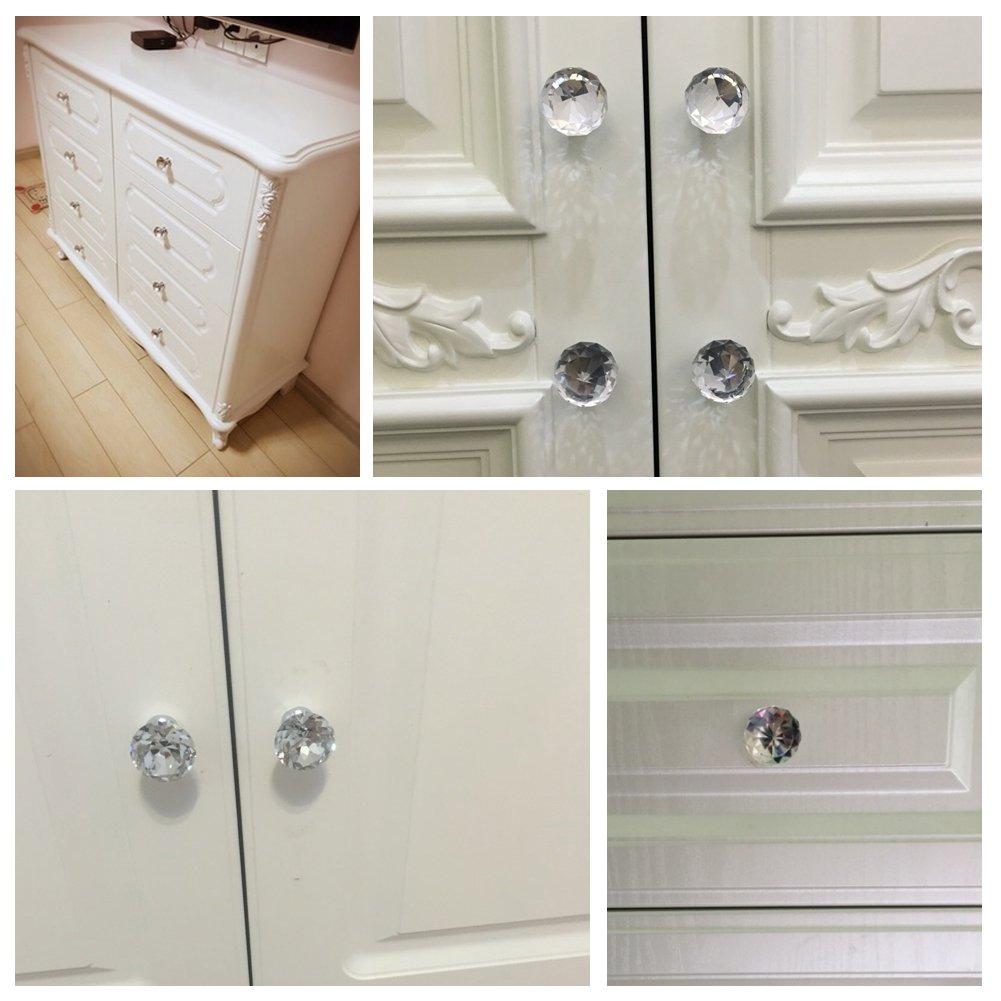 crystal bathroom drawer knobs