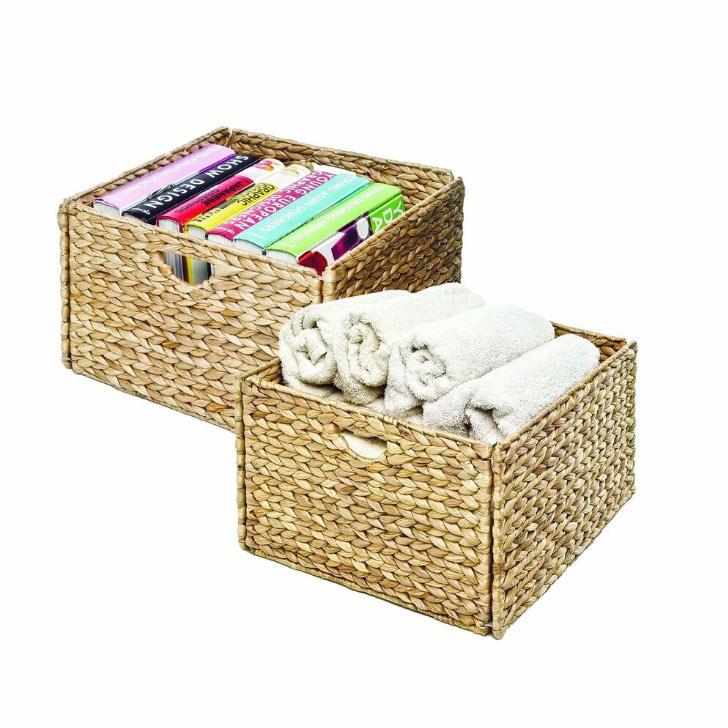 hand-woven storage baskets
