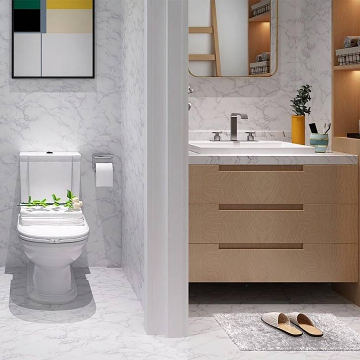 marble bathroom contact paper