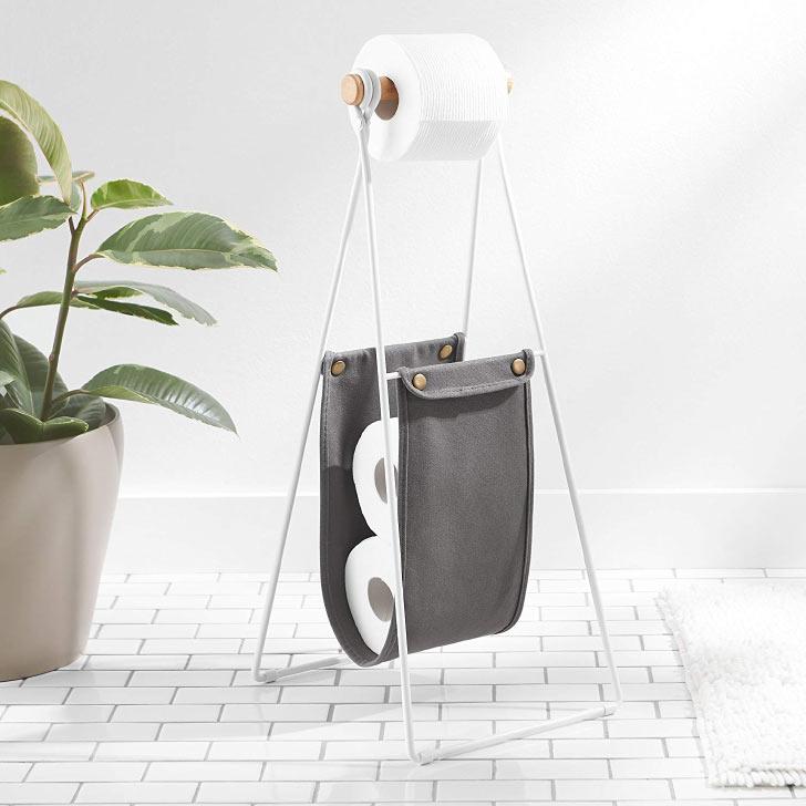 minimalist toilet paper stand