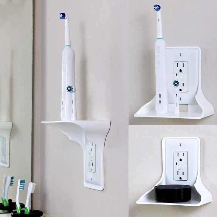 outlet bathroom shelf