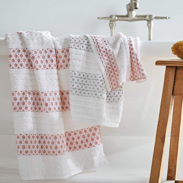 sculpted dots cotton towels