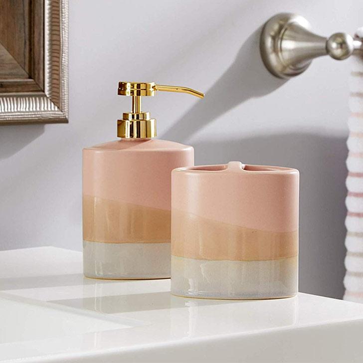 soap dispenser bathroom decor