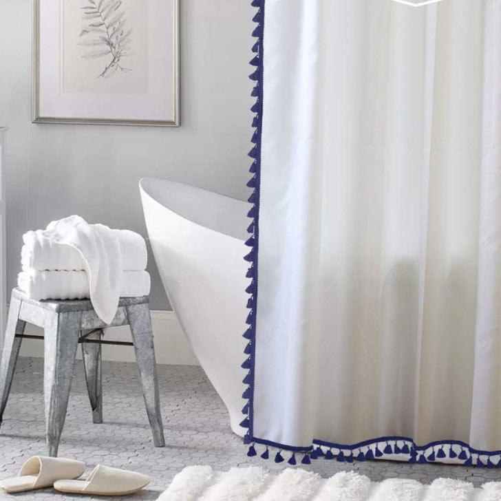 tassles shower curtain
