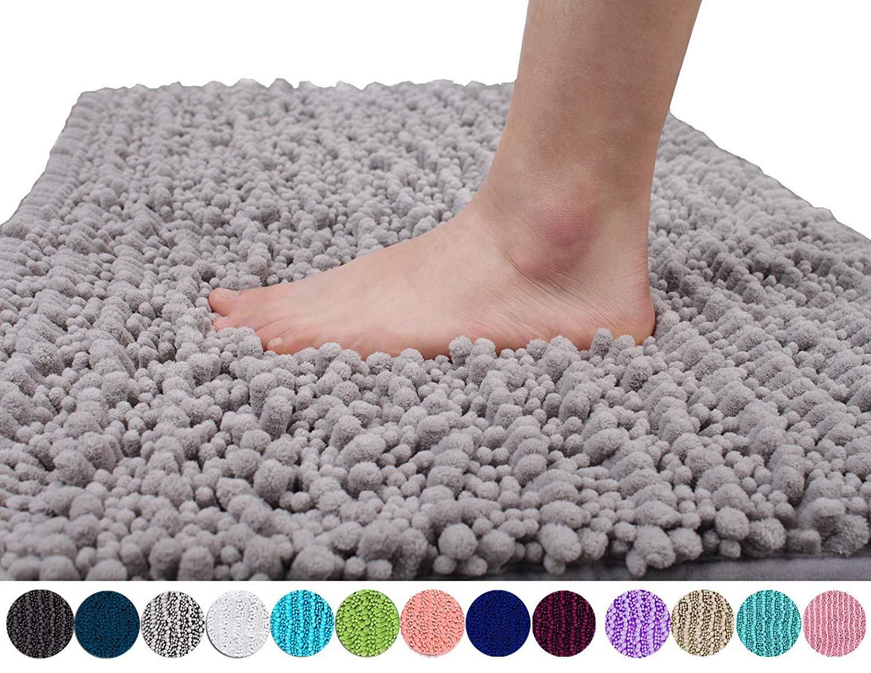 shaggy absorbent bath mat