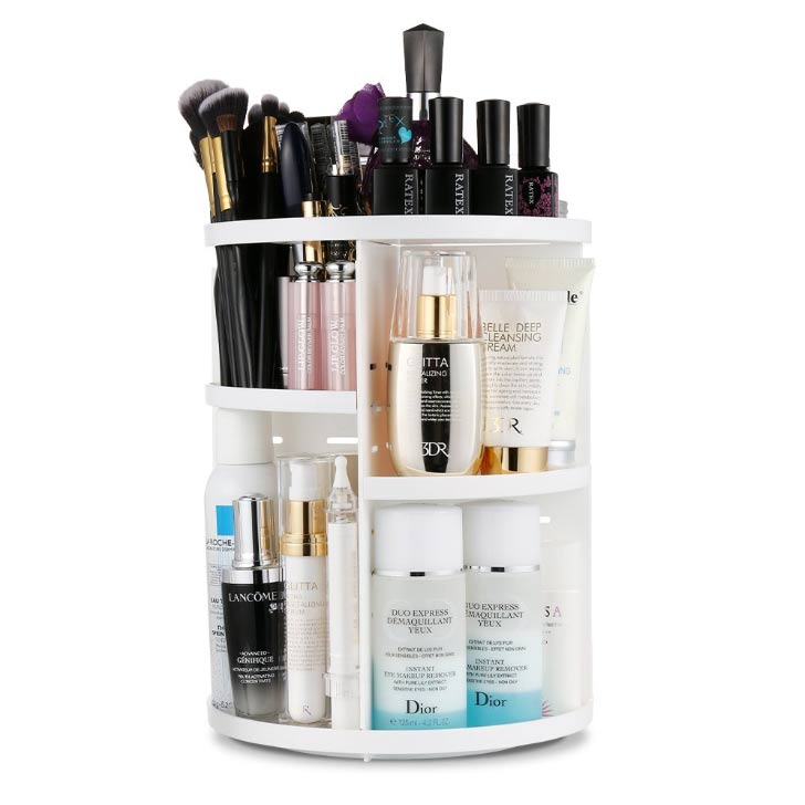 small bathroom makeup organizer